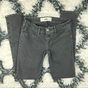 Hollister Women's Skinny Jeans Size 3R Gray rips